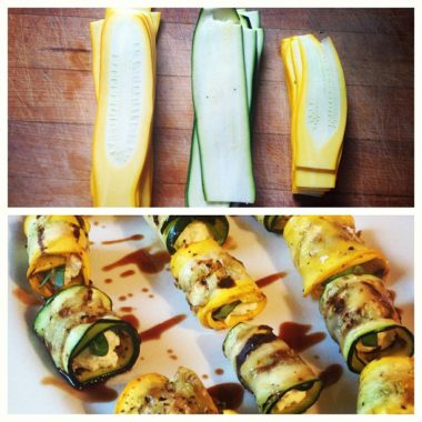 Grilled Zucchini and Goat Cheese Rolls
