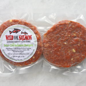 Feta Dill Salmon Burgers