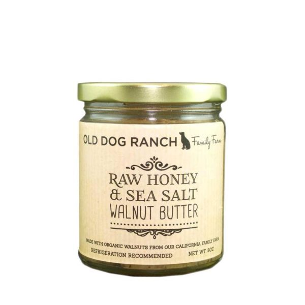 Old Dog Ranch Organic Raw Honey & Sea Salt Walnut Butter ...